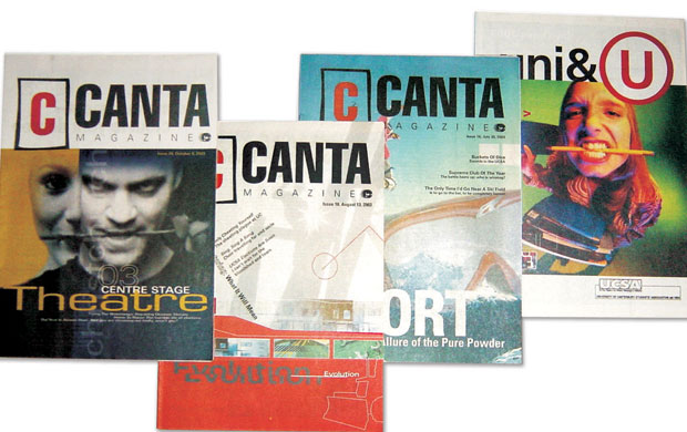 University of Canterbury Canta magazines